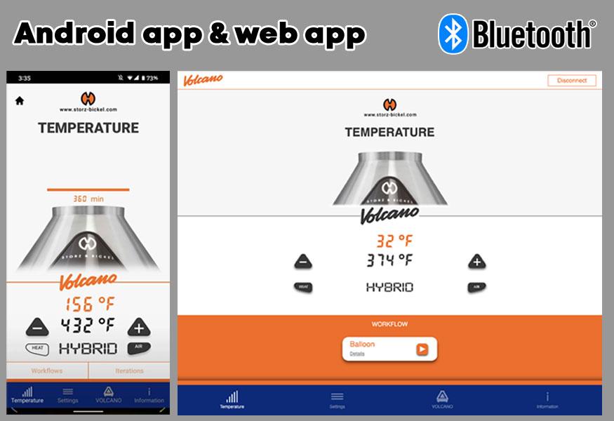 Volcano hybrid bluetooth app
