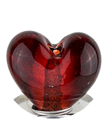 Glass Heart Drip Tip - Red