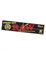 RAW Black Inside Out Backrolling Papers - Kingsize Slim