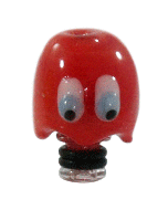 Glass Puckman Ghoul Drip Tip - Red