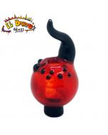 El Barto Glass - Bubble Cap - Red And Black