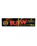 RAW Black Connoisseur - King Size With Tips