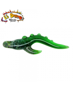 El Barto Glass - Tentacle Pendant Dabber - Green side