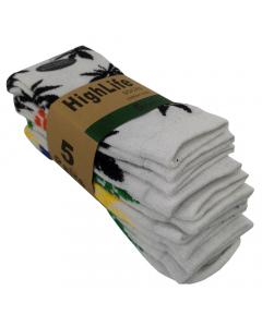 HighLife Weed Socks - White - 5 Pack