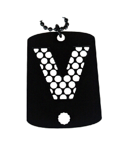 V Syndicate Dog Tag Grinder - 66mm x 38mm - V Syndicate Logo