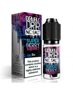 Double Drip - Nic Salts - High Nicotine E-Liquid - 10ml - Super Berry Sherbet