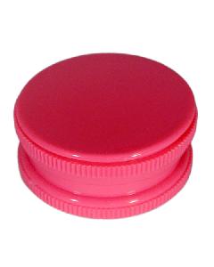 Neon 2 Part Grinder With Stash - Neon Pink