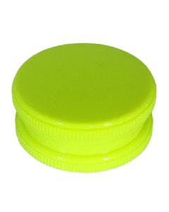 Neon 2 Part Grinder With Stash - Neon Yellow