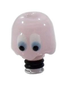 Glass Puckman Ghoul Drip Tip - Pink
