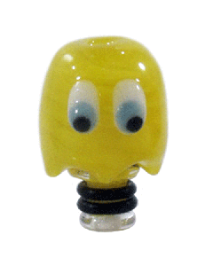 Glass Puckman Ghoul Drip Tip - Yellow