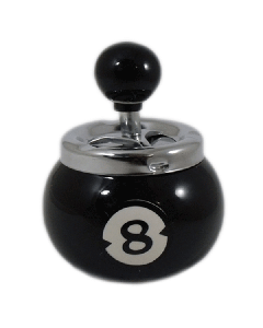 Billiard Ball Spinning Ashtray - Black