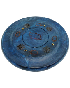 Disc Incense Burner - Elephant - Blue