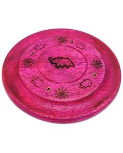 Disc Incense Burner - Elephant - Pink