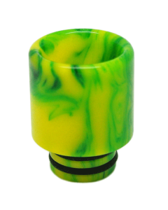 Tall 510 Resin Drip tip - Marble - Light Green/Yellow