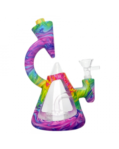 Bounce Microscope Silicone Bong / Dab Rig - Tie Dye