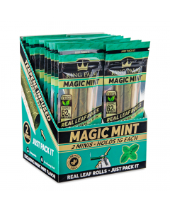 King Palm - Organic Mini Pre-Rolled Cones - Magic Mint - Two Pack