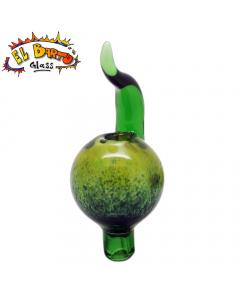 El Barto Glass - Bubble Cap - Green
