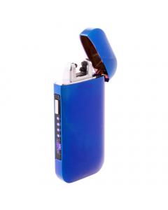 Metallic Blue Double Arc Plasma Lighter