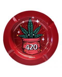 Smoke Arsenal Metal Ashtray - 420 Power