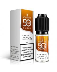 Vapouriz 50/50 - E-Liquid - 10ml - Caramel Vanilla Tobacco