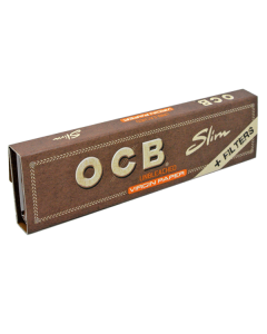 OCB - King Size Virgin Unbleached Papers With Tips