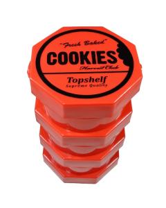 Cookies Harvest Club Storage Jar - Large - Red 4 tier
