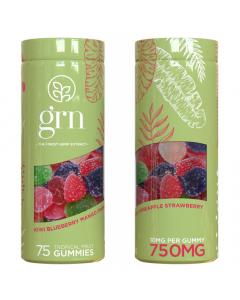 GRN CBD - 750mg CBD Gummies - Green