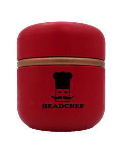 HeadChef Aluminium Strorage Cannistar - Large - Red