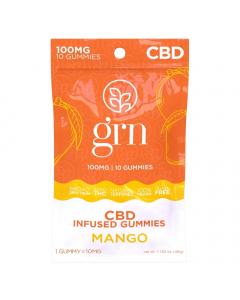 GRN CBD - 100mg CBD Gummies - Mango