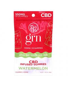 GRN CBD - 100mg CBD Gummies - Watermelon
