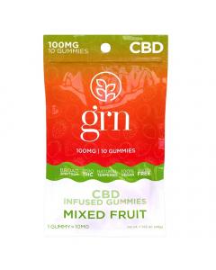 GRN CBD - 100mg CBD Gummies - Mixed Fruit
