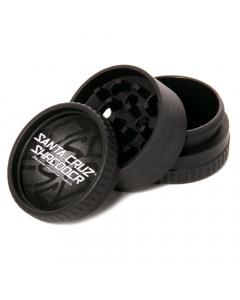 Santa Cruz Shredder Hemp Grinder - 3 Piece - Black