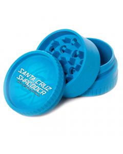 Santa Cruz Shredder Hemp Grinder - 3 Piece - Blue