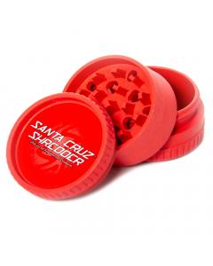Santa Cruz Shredder Hemp Grinder - 3 Piece - Red