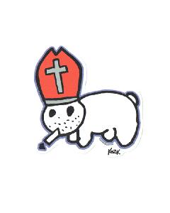 Vinyl Sticker - Kozik Pope Bunny