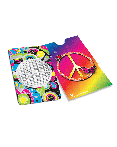V Syndicate Grinder Card - 85 x 55mm - Peace Symbol