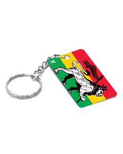 Keyring Grinder Card - Rasta Lion