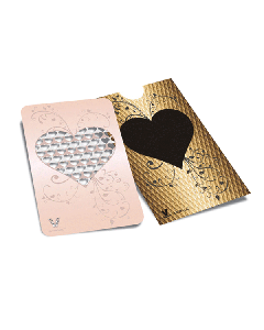 V Syndicate Grinder Card - 85 x 55mm - Rose Gold Heart