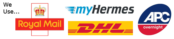 we use Royal Mail, My Hermes, DHL and APC